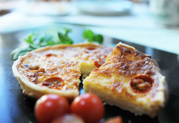 Mature Cheese and Cherry Tomato Tart (V)