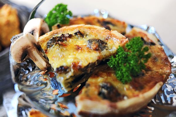 Broccoli and Mushroom Tart (V)